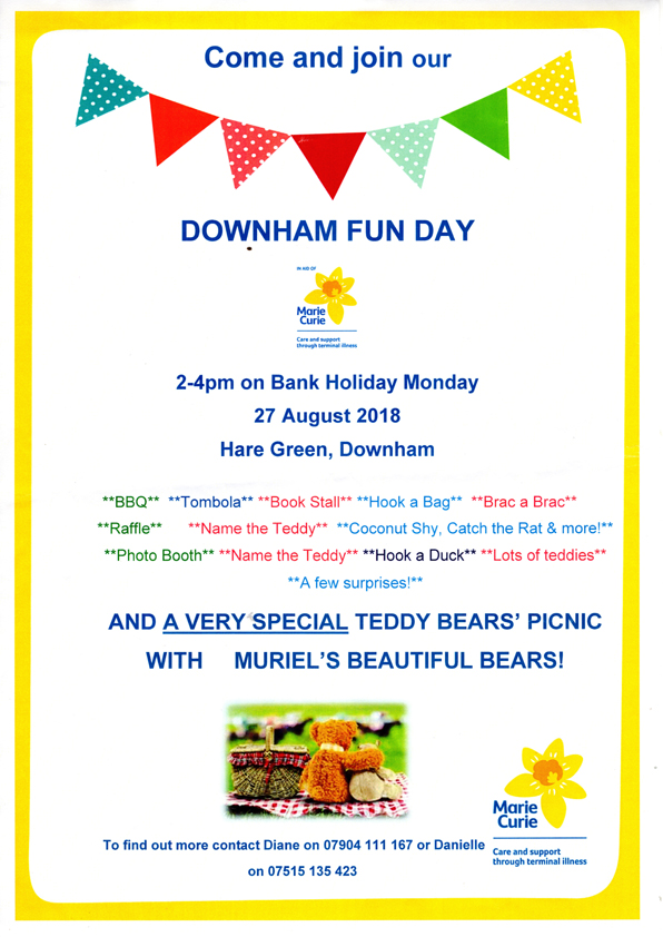 fun day 27th August 2 til 4